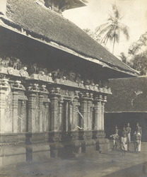 North-west view of Garbhagrihani, Thaligai Temple, Malabar District, Calicut Taluk